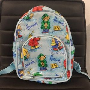 Authentic Harrods Signature bear toddler backpack